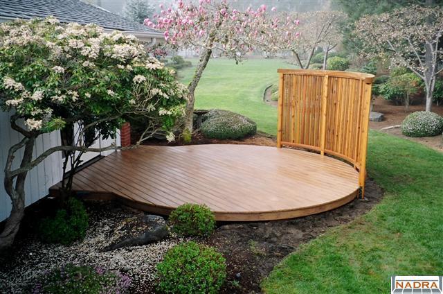 Curved Shaped Elegant Round Deck Nadra Gallery Of